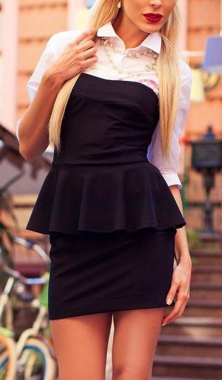 Черное платье корсетное