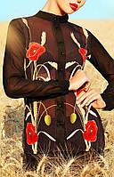 """ПП Украина Модная женская   блуза с длинным рукавом """"Лекса"""" до 48  размера"""