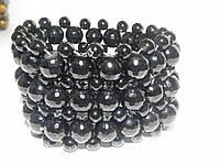 Браслет с натуральными камнями Агат черный