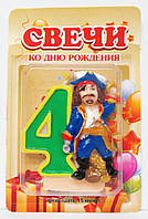 """Свеча для торта """"Пират"""" 4., фото 1"""