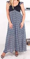 """ПП Украина Женское длинное платье большого размера  """"Вилена супер"""", платье до 70 размера и более"""