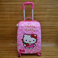 "Чемодан детский каркасный на колесах Hello Kitty размеры (45x32 см) Серии "" TRAVEL """