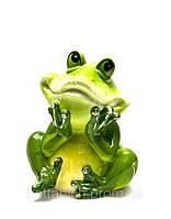 Копилка Лягушка зеленая керамическая