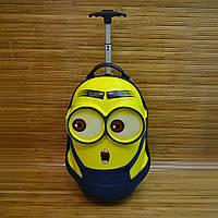 Чемодан детский каркасный на колесах, регулируемой ручкой Minion (47x29 см)  Серии