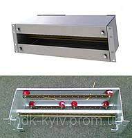 """Панель распределения питания (DIN рейка 3U, под """"автоматы"""") с шинами заземления"""