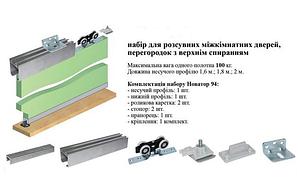 Раздвижная система min 60-max 100 кг полотно 1,6м направляющая