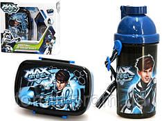 "Набор ""MAX STEEL (Макс Стил)"" в коробке. Ланч бокс (ланчбокс) + бутылка с трубочкой"