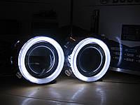 """Би ксеноновые линзы Morimoto Mini H1 2.5"""" G5 c ангельскими глазками"""