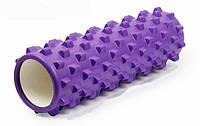 Роллер массажный 45см (Grid) фиолетовый