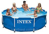Каркасный бассейн INTEX Metal Frame (круглый). Артикул  28218