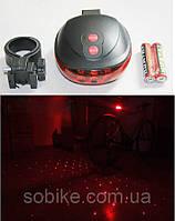 Подседельная диодная мигалка / задний фонарь с лазерной площадкой, фото 1