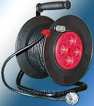 Удлинитель электрический 40 м на катушке У16-01 ПВС 2х2,5 Лемира