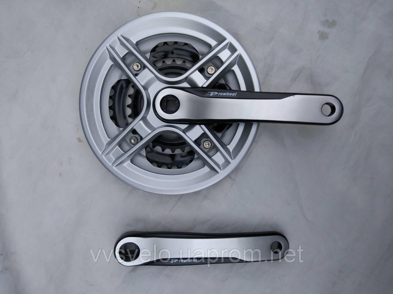 Комплект шатунов prowheel 48/38/28 170 mm серебро фрезерованный 2017