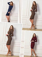 Женское вязаное платье (100см.)