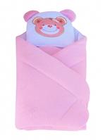 """Конверт - одеяло для новорожденного с подушкой  махровый (розовый) """"Duetbaby"""""""
