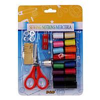 Набор швейный: нитки, ножницы, наперсток, пуговицы, метр, иглы