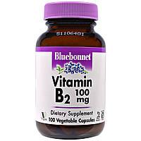 Bluebonnet Nutrition, Витамин B-2, 100 мг, 100 растительных капсул