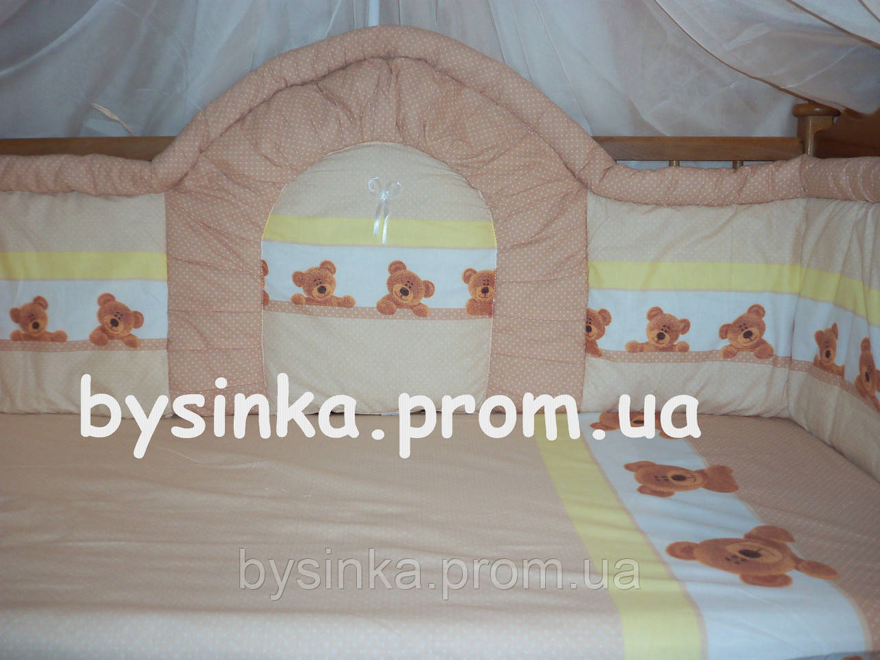 Детское постельное белье в кроватку. Защита - 40 см детскую кроватку.