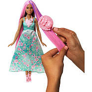 Barbie Лялька Принцеса з чарівними волоссям / Barbie Dreamtopia Color Stylin' Princess, фото 4
