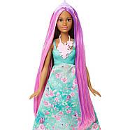 Barbie Лялька Принцеса з чарівними волоссям / Barbie Dreamtopia Color Stylin' Princess, фото 5