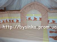 Защита высокая и сменная постель в кроватку детскую, фото 1