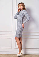 Вязаное платье (100 см.) темно-серый