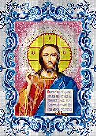 """Схема для вышивки бисером на габардине """"Иисус Христос"""" (полная зашивка)"""