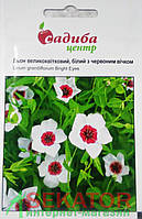 "Семена  цветов лен крупноцветковый, Белый с красным глазком, 0,5 г, ""Садыба центр"",  Украина"