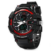 S-Shok SKMEI 1040, мужские спортивные часы, цифровые + аналоговые, водонепроницаемые