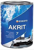 Краска Akrit 7 ESKARO 2,85л – Моющаяся шелково-матовая краска для стен и потолка  (Акрит 7)