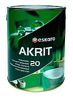 Особопрочная краска Akrit 20 Eskaro 2,85л – для стен и потолка в ванных и кухнях (полуматовая)