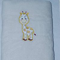 Махрове одіяльце «Жираф»