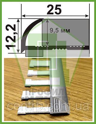 Гибкий профиль для плитки 9 мм НАП 10 Г. Анодированный, L-2.7m