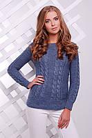 Вязанный свитер с красивой горловиной