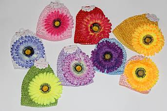 Детская шапочка - сетка с цветком