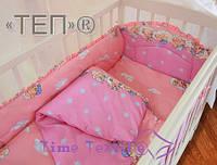 Медвежонок розовый Детское в кроватку ТМ ТЕП