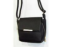 Качественная черная женская сумка из кож-зама.  Размер: 24*18
