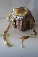 Парик Каре с косичками Блонд