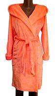 Халат женский махровый классический с капюшоном, р.р.42-54
