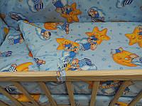 """Комплект постельного белья в детскую кроватку 9 в1 ТМ """"GOLD"""""""