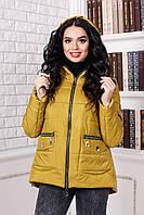 Женская демисезонная золотистая куртка В-925 Лаке Тон 6 44,46,50  размеры