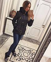Женская модная демисезонная куртка-парка (4 цвета)