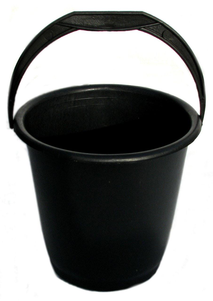 Ведро пластмассовое 10 л черное