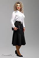 Строгая деловая женская юбка черная 52-58рр