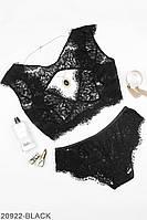 Комплект нижнего белья (топ и трусики)BLACK