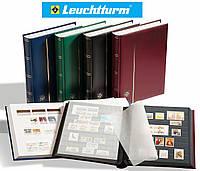 Кляссер Leuchtturm - 64 страницы - А4 - чёрные листы - синяя обложка