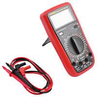 Универсальный цифровой тестер VC9205N, звуковая индикация, прорезиненный корпус, подставка, два щупа