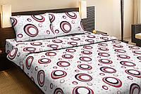 Красивое хлопковое односпальное постельное белье  Lotus CIRCLE красный LT12