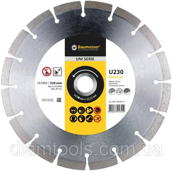 Алмазный диск по бетону Baumesser 115мм 22.2мм Universal