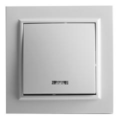 Выключатель с подсветкой белый ElectroHouse ЕН-2103 Enzo